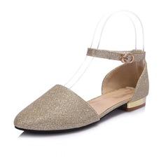 Keinonahasta Matala heel Matalakorkoiset Suljettu toe jossa Paljetti kengät