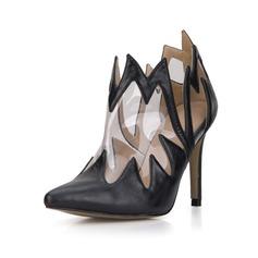 De mujer Cuero PVC Tacón stilettos Salón Cerrados Botas Botas al tobillo zapatos