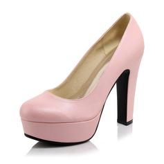 Femmes Similicuir Talon bottier Escarpins Plateforme Bout fermé chaussures