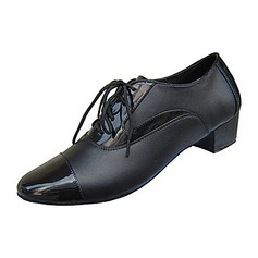 Men's Real Leather Fabric Heels Flats Latin Modern Ballroom Dance Shoes