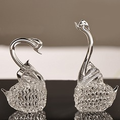 Elegant Swan Glass Accessories (2 Pieces)
