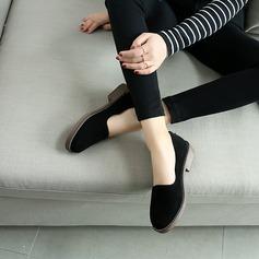 Kvinnor Konstläder Flat Heel Platta Skor / Fritidsskor Stängt Toe med Zipper skor