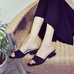 Dla kobiet Zamsz Niski Obcas Sandały Kapcie Z Pozostałe obuwie