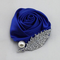 Romantic Round Satin Boutonniere/Men's Accessories