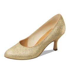 Women's Sparkling Glitter Heels Pumps Modern Dance Shoes