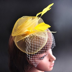 Charming/Vintage Feather/Cotton Hats