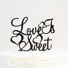 Letter Love Is Sweet Acrylic Wedding Cake Topper/Bridal Shower Cake Topper