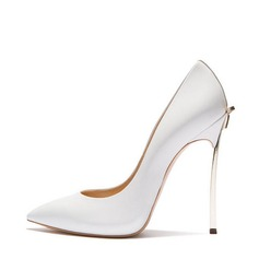 Women's Real Leather Stiletto Heel Pumps Closed Toe With Others shoes