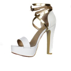 Suède Talon bottier Sandales Plateforme À bout ouvert avec Boucle chaussures