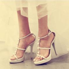 Femmes Satiné Talon stiletto À bout ouvert Plateforme Sandales Beach Wedding Shoes avec Perle d'imitation