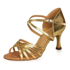 Women's Patent Leather Heels Sandals Latin Dance Shoes