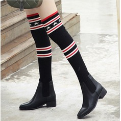 Women's PU Chunky Heel Boots Over The Knee Boots With Split Joint shoes