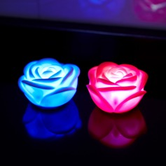 Cambia Colore Rosa forma Luci a LED (Set di 4)