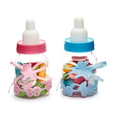 Baby Bear Candy Jars and Bottles With Ribbons (Set of 12)