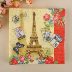 Eiffel Tower Design Dinner Napkins (Set of 20)