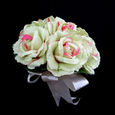 Girly Round Satin Bridesmaid Bouquets
