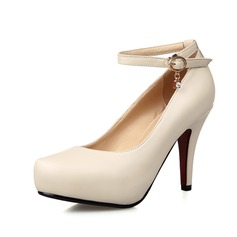 Women's Leatherette Cone Heel Pumps Platform Closed Toe With Rhinestone Sequin shoes
