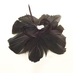 Elegant Rhinestone/Feather Flowers & Feathers
