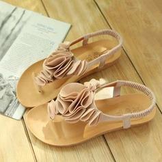 Women's Suede Wedge Heel Sandals Peep Toe Slingbacks With Flower Elastic Band shoes