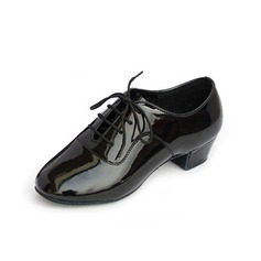 Men's Kids' Leatherette Heels Modern With Lace-up Dance Shoes