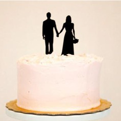 Classic Couple Acrylic Wedding Cake Topper/Bridal Shower Cake Topper